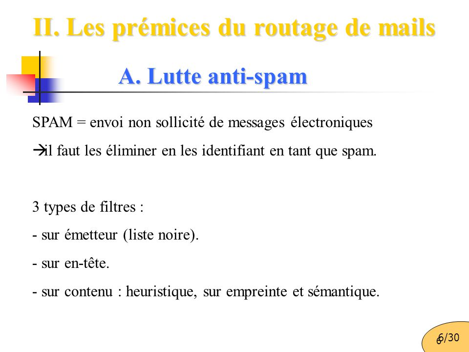 II. Les prémices du routage de mails