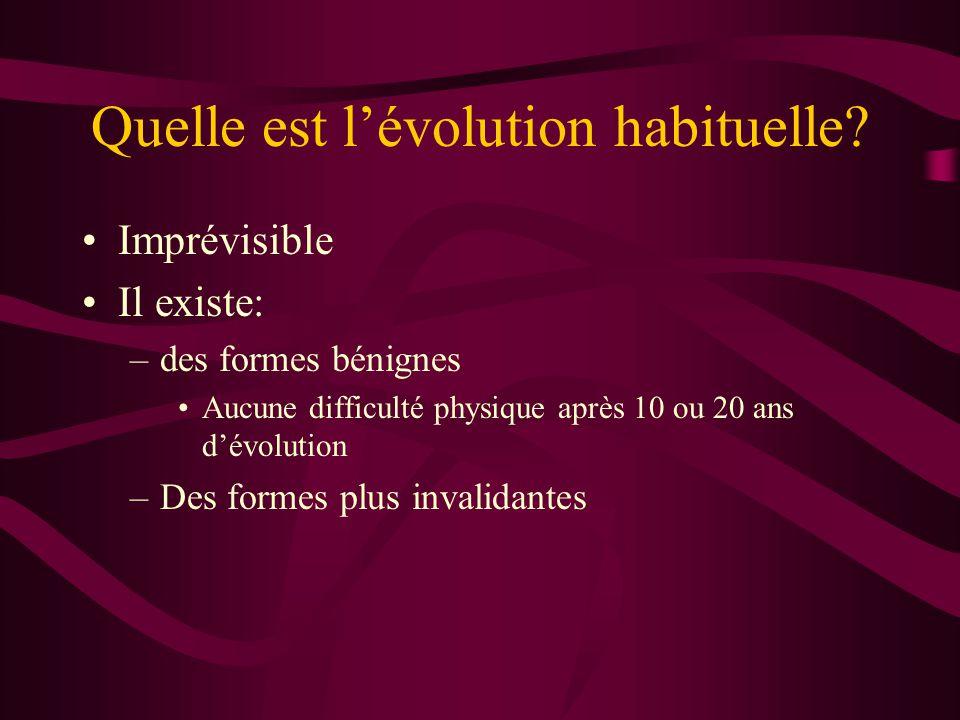 Quelle est l'évolution habituelle