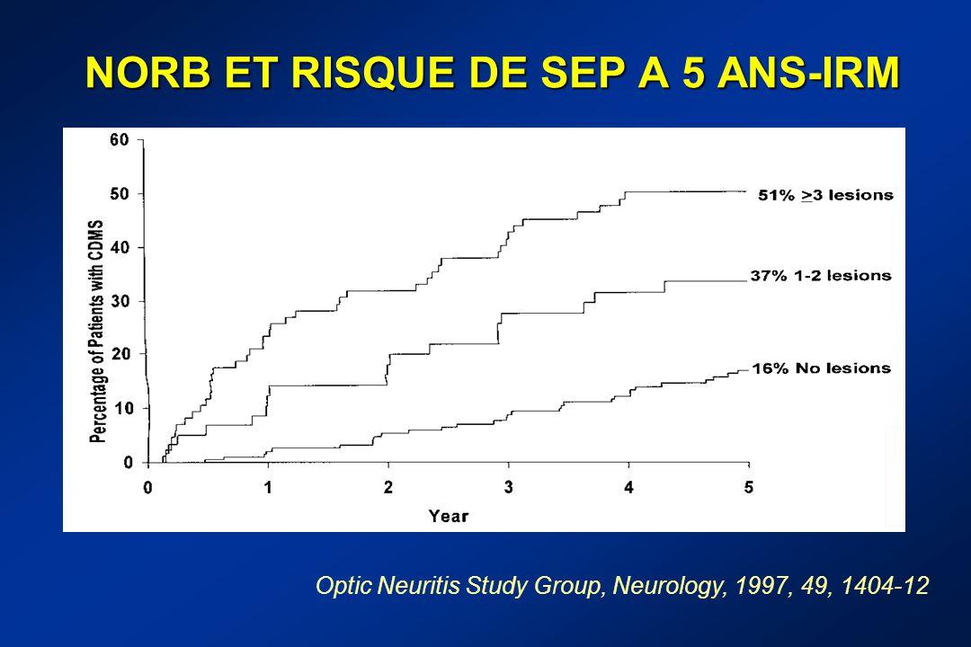 NORB ET RISQUE DE SEP A 5 ANS-IRM
