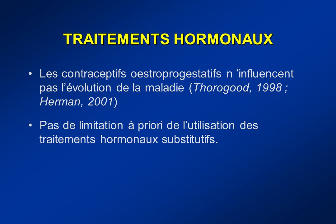 TRAITEMENTS HORMONAUX