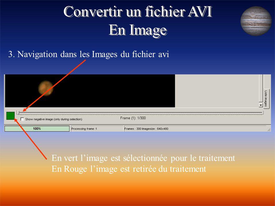 Convertir un fichier AVI