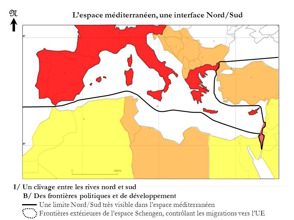L'espace méditerranéen, une interface Nord/Sud