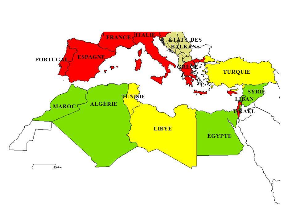 ITALIE FRANCE. ÉTATS DES BALKANS. ESPAGNE. PORTUGAL. GRÈCE. TURQUIE. SYRIE. TUNISIE. LIBAN.