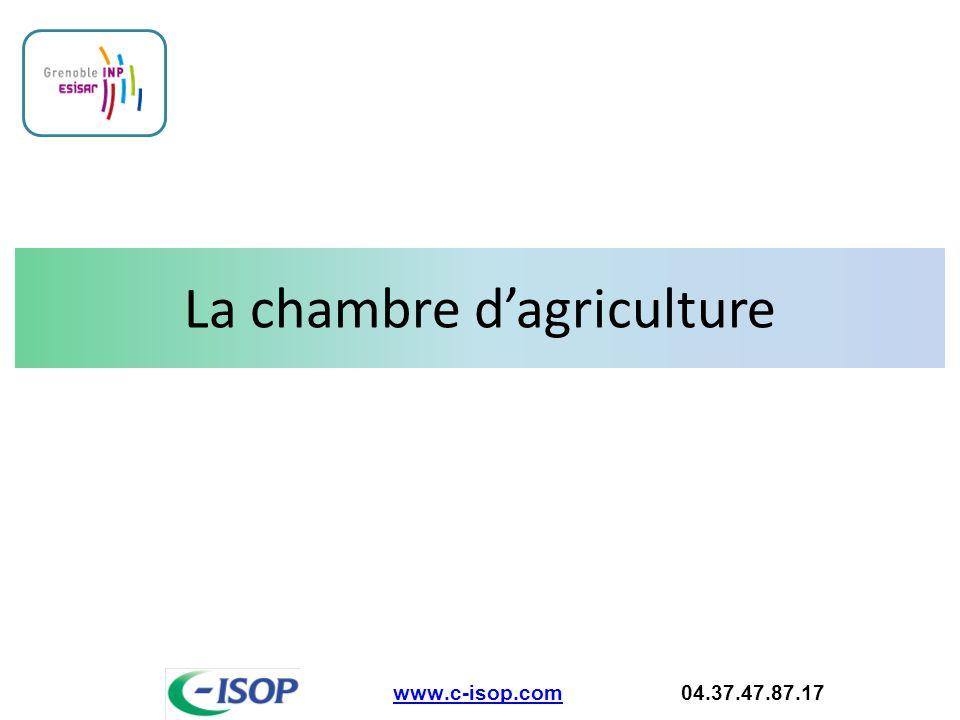 La chambre d'agriculture