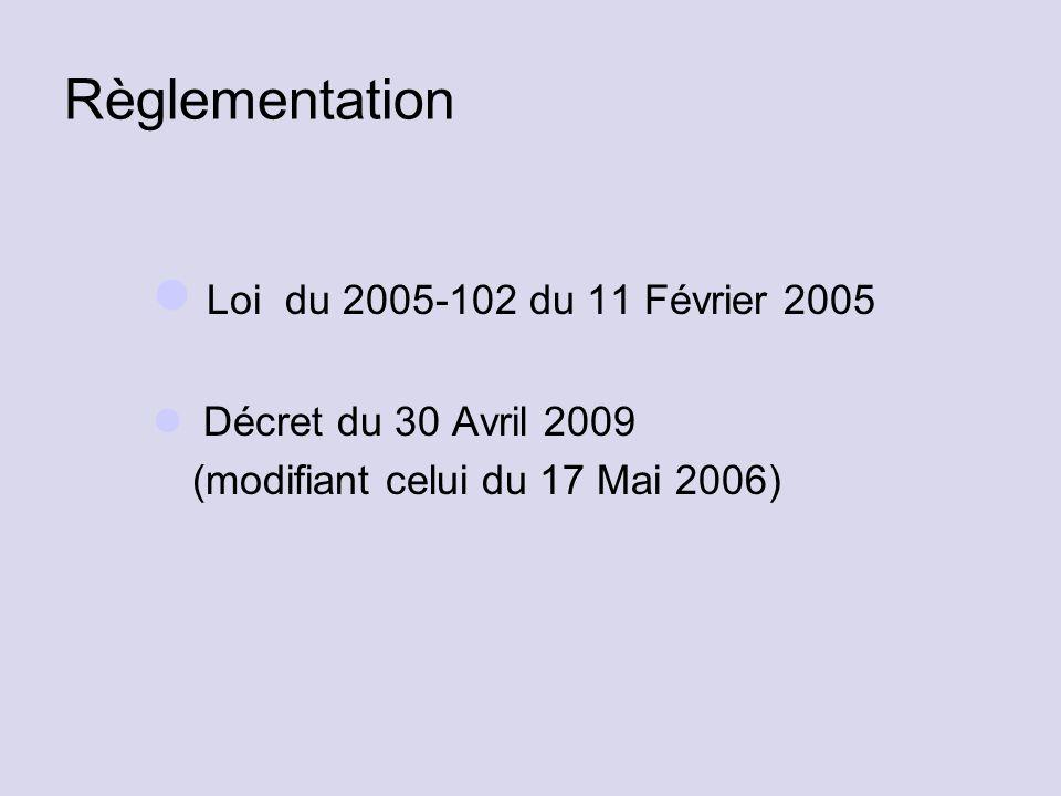 Règlementation Loi du 2005-102 du 11 Février 2005