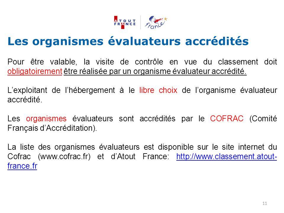 Les organismes évaluateurs accrédités