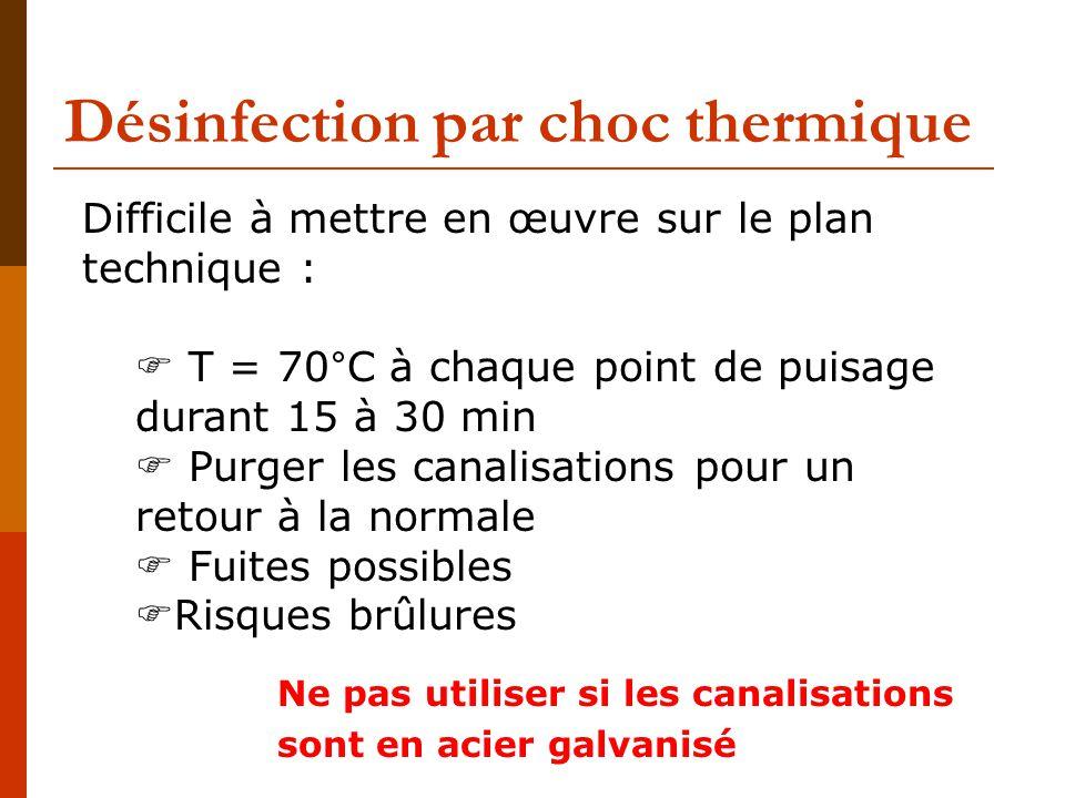 Désinfection par choc thermique