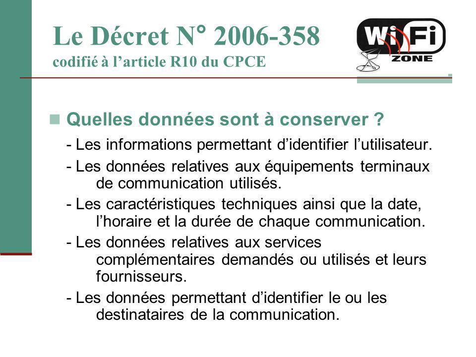 Le Décret N° 2006-358 codifié à l'article R10 du CPCE