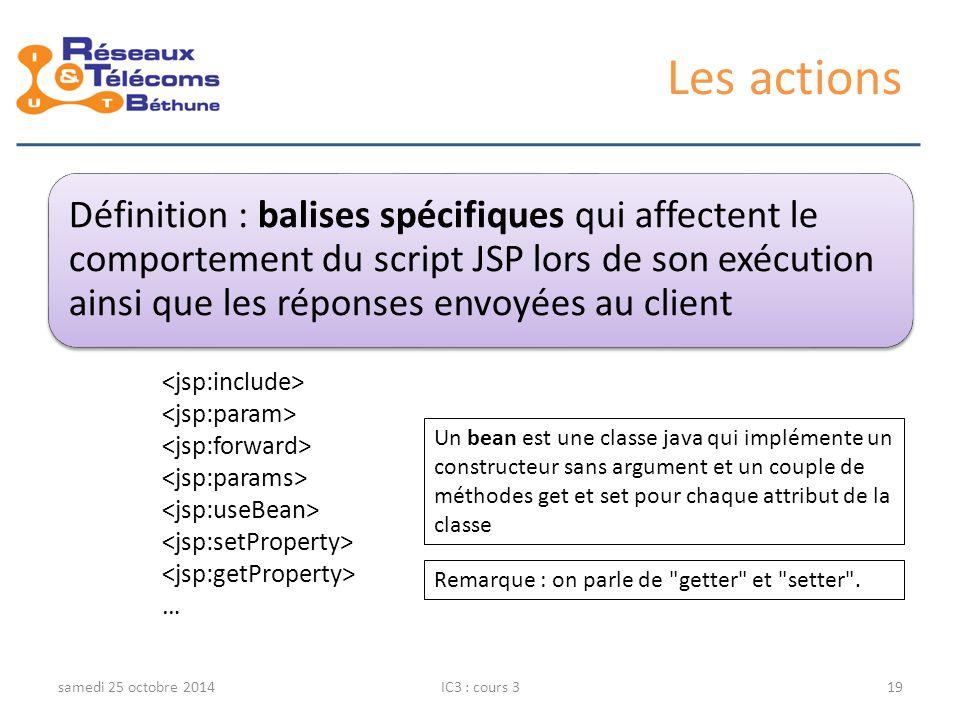 Les actions <jsp:include> <jsp:param> <jsp:forward>