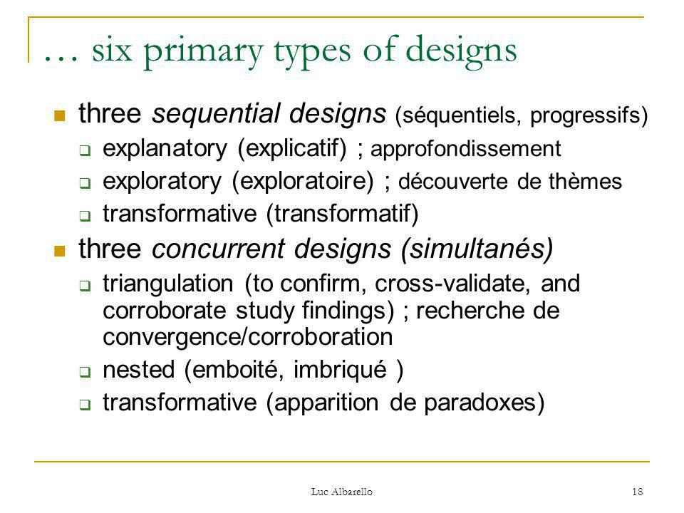 … six primary types of designs