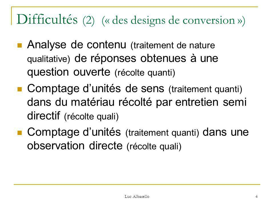 Difficultés (2) (« des designs de conversion »)