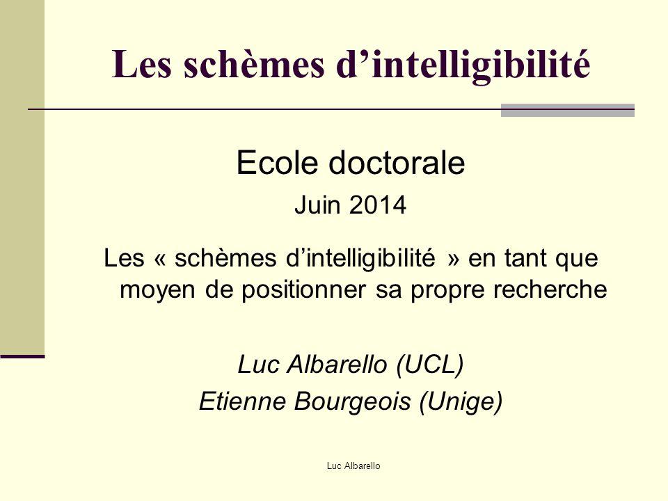 Les schèmes d'intelligibilité