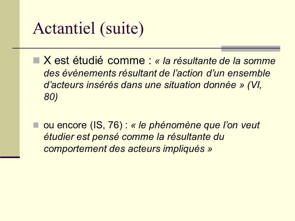 Actantiel (suite)