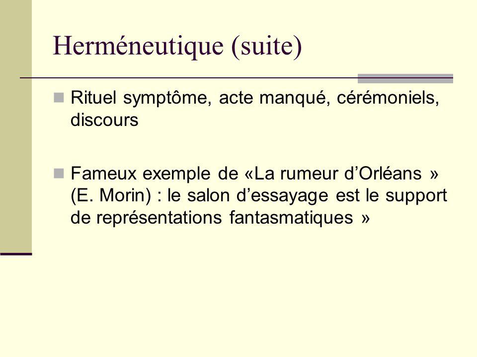 Herméneutique (suite)