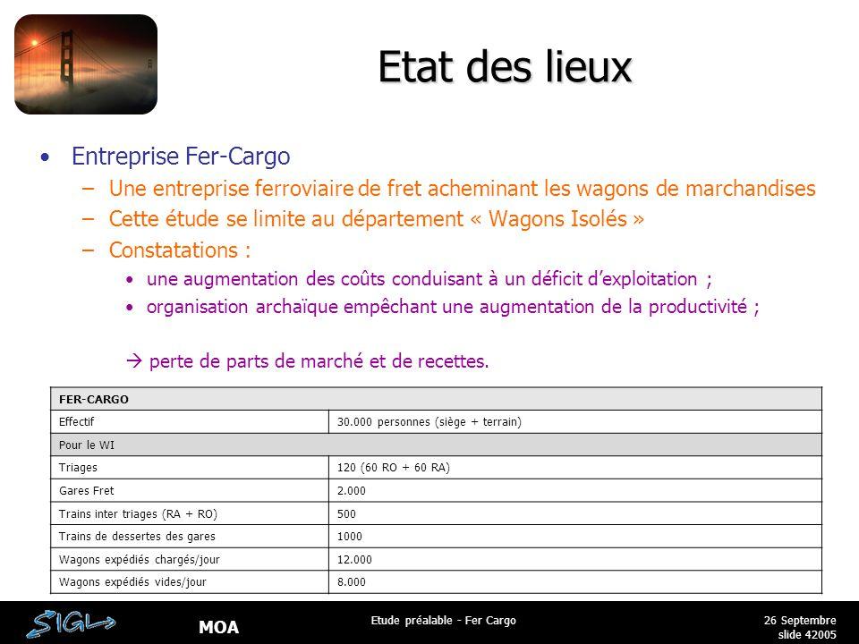 Etude préalable - Fer Cargo