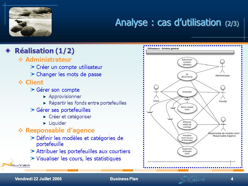 Analyse : cas d'utilisation (2/3)