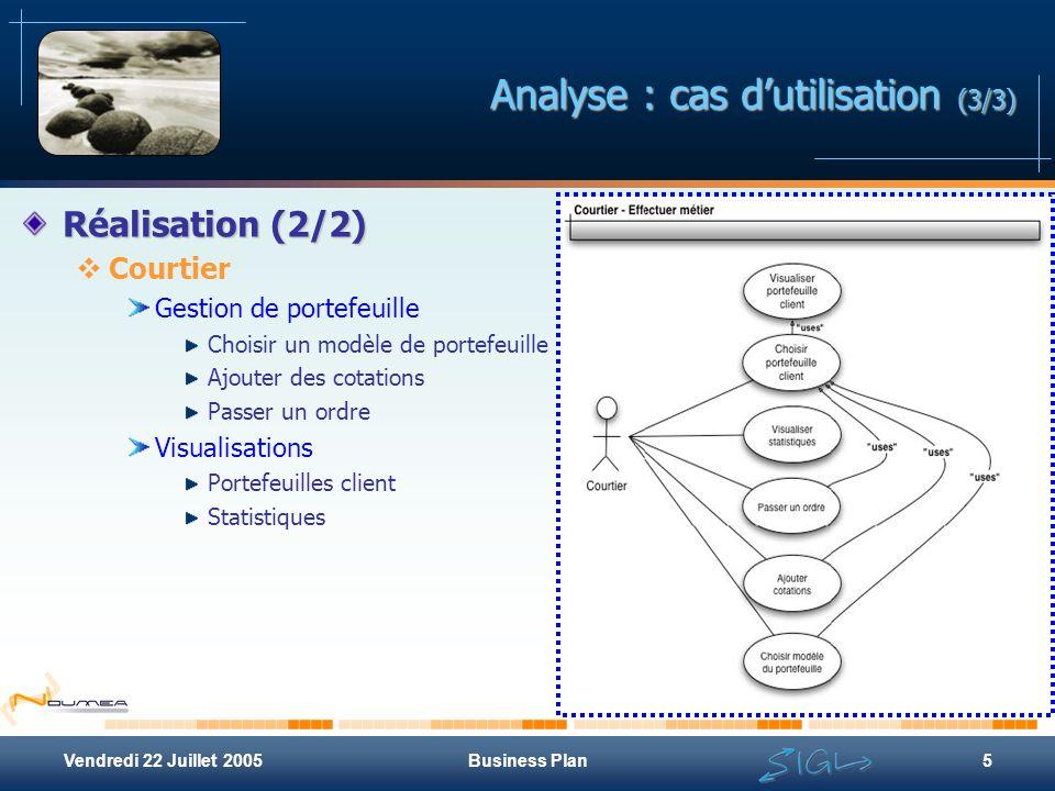 Analyse : cas d'utilisation (3/3)