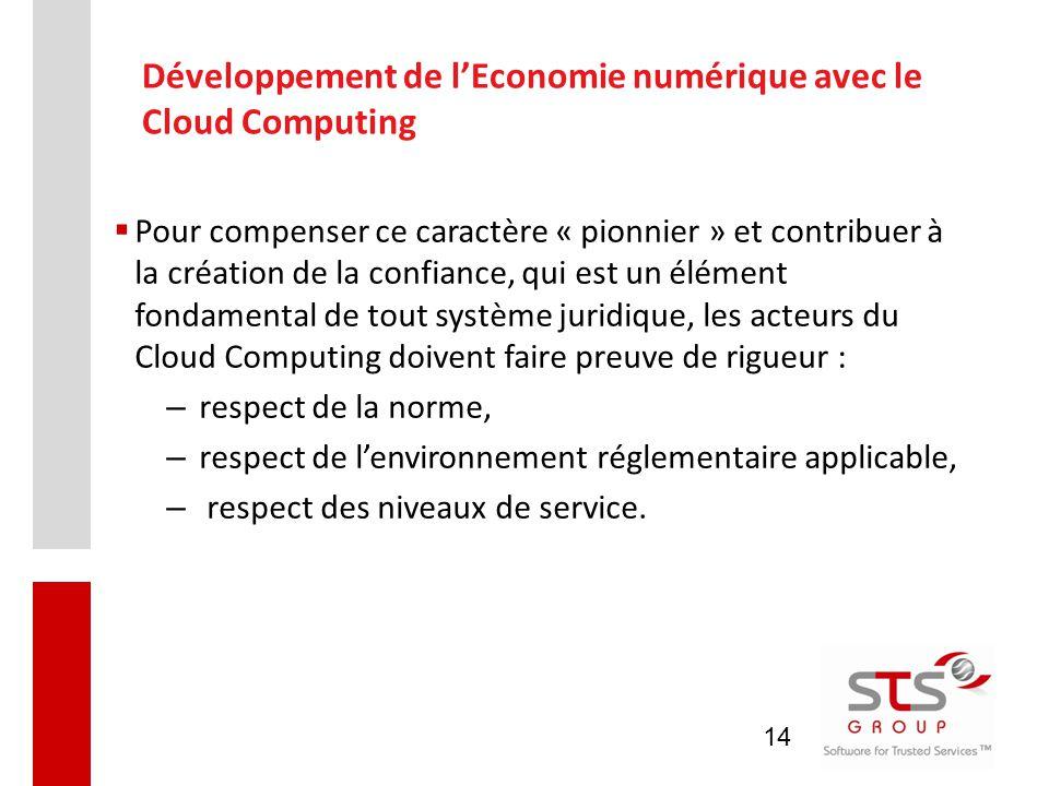 Développement de l'Economie numérique avec le Cloud Computing