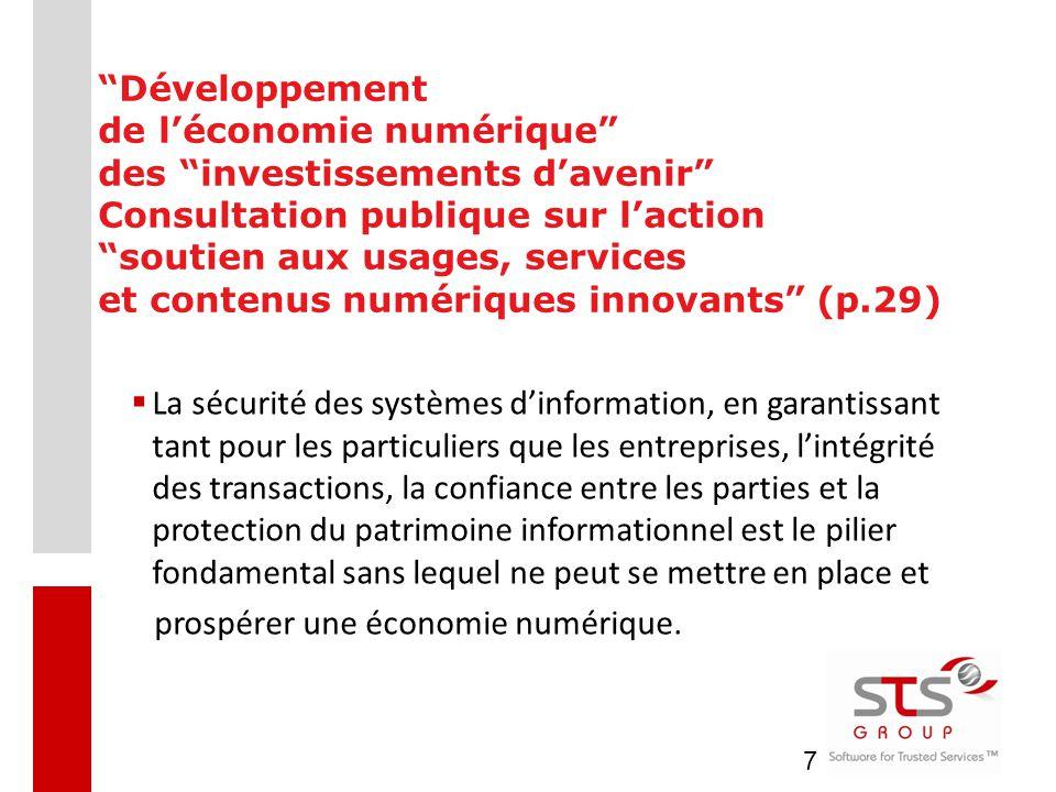 Développement de l'économie numérique des investissements d'avenir Consultation publique sur l'action soutien aux usages, services et contenus numériques innovants (p.29)
