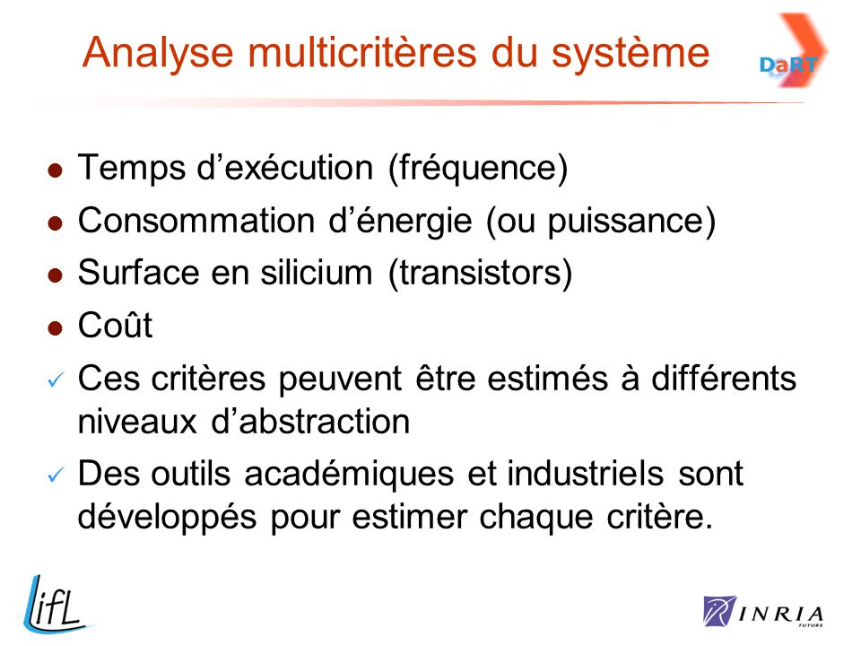 Analyse multicritères du système