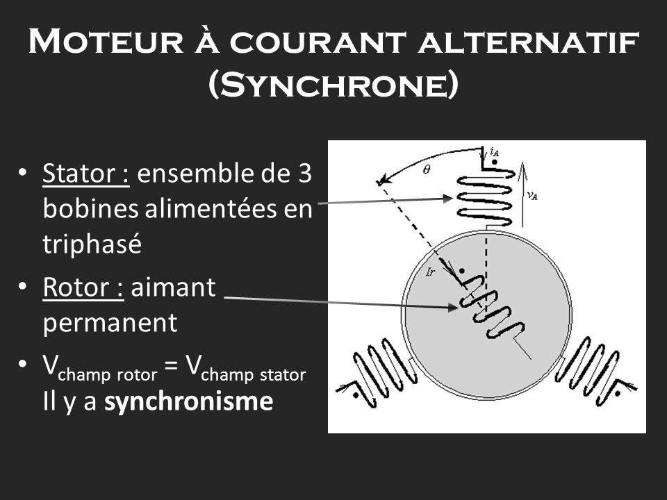 Moteur à courant alternatif (Synchrone)