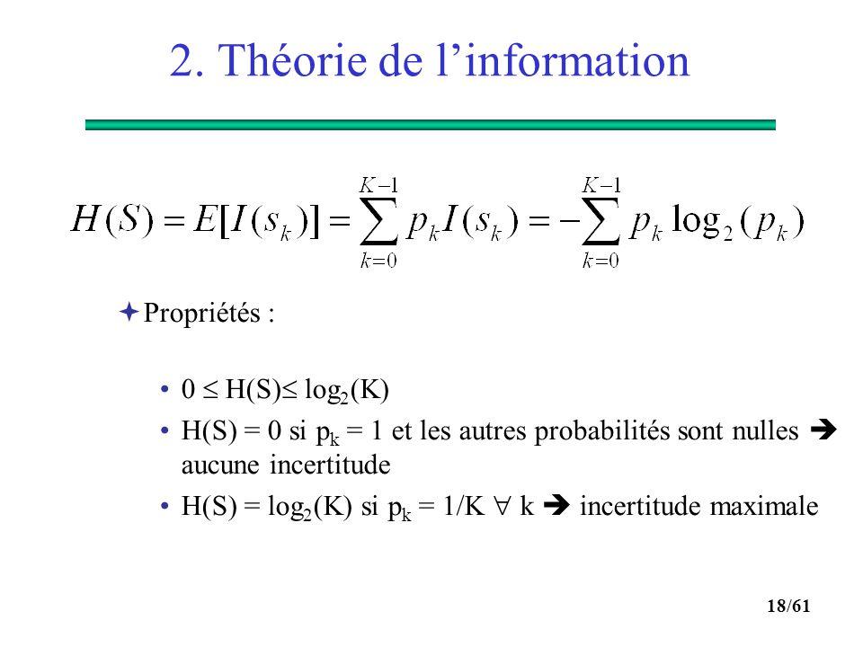 2. Théorie de l'information