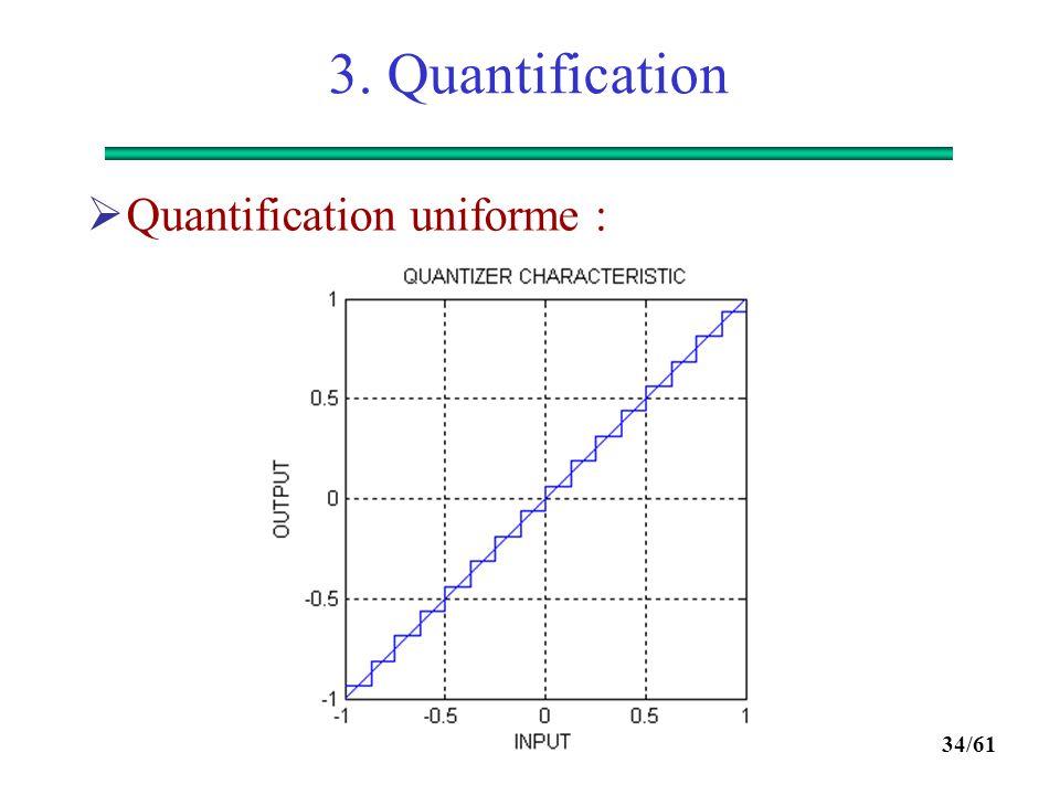 3. Quantification Quantification uniforme :