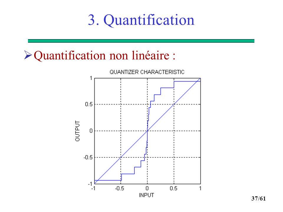 3. Quantification Quantification non linéaire :