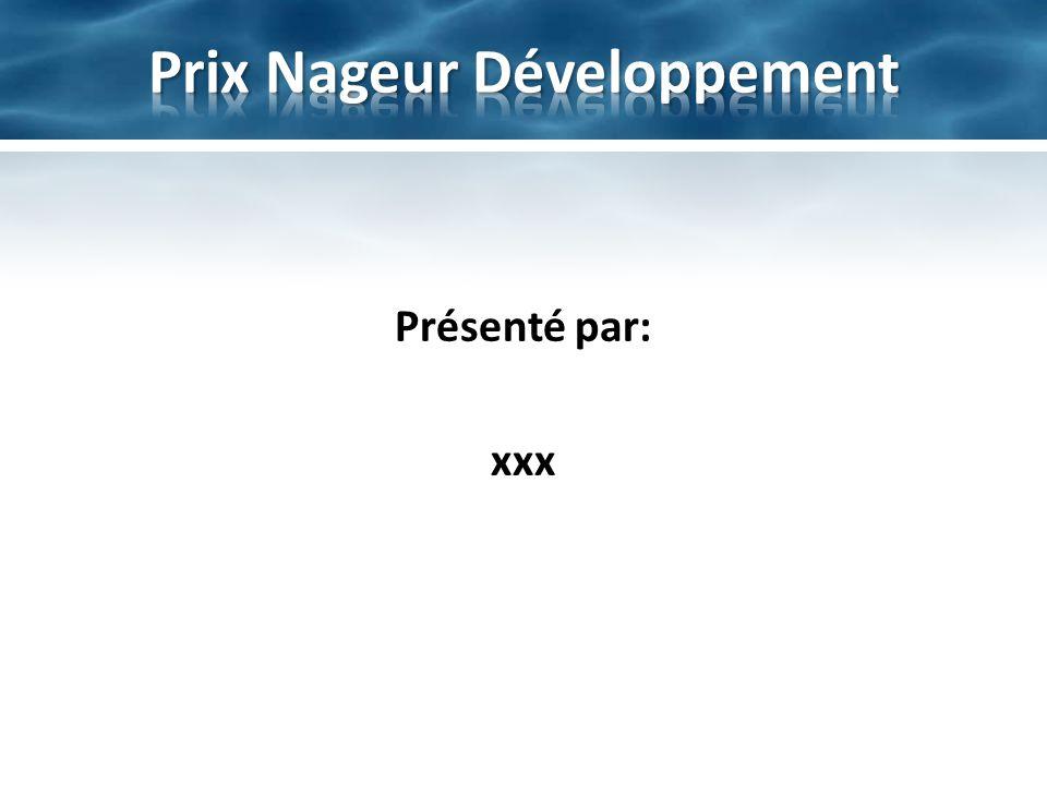 Prix Nageur Développement