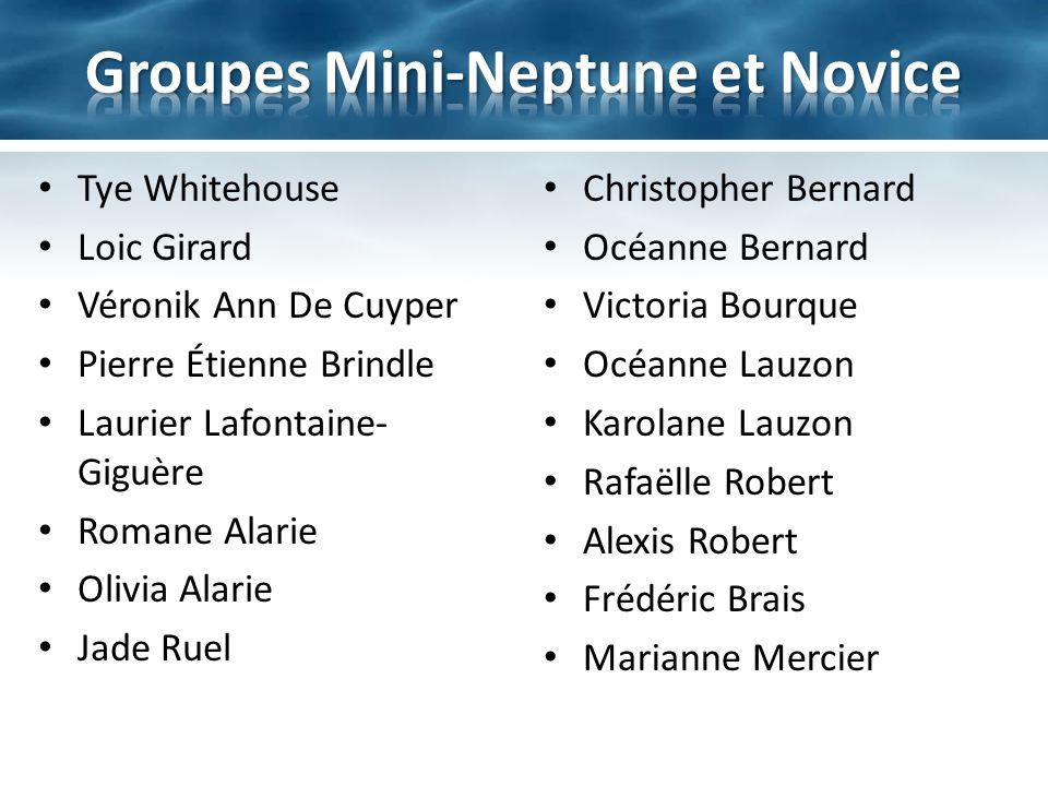 Groupes Mini-Neptune et Novice