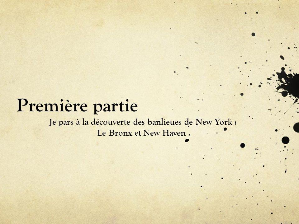 Je pars à la découverte des banlieues de New York :