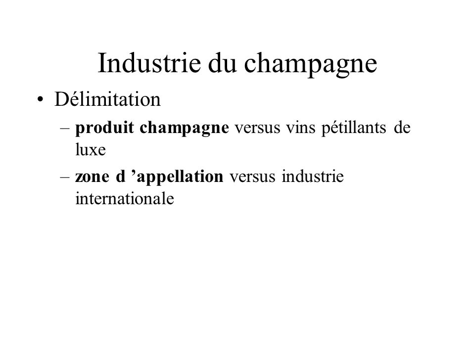 Industrie du champagne