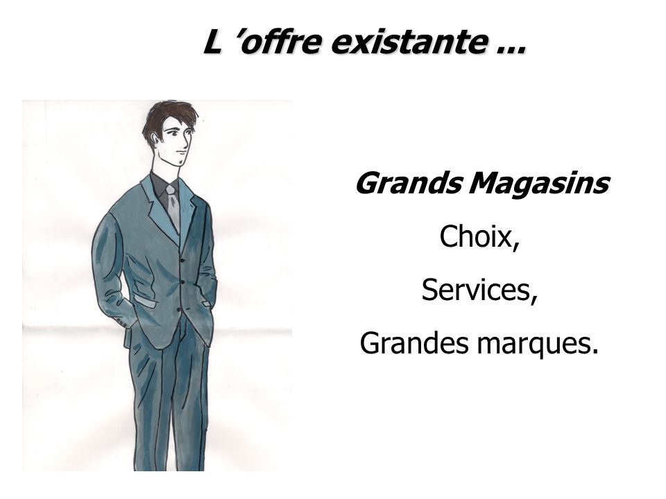 L 'offre existante ... Grands Magasins Choix, Services,