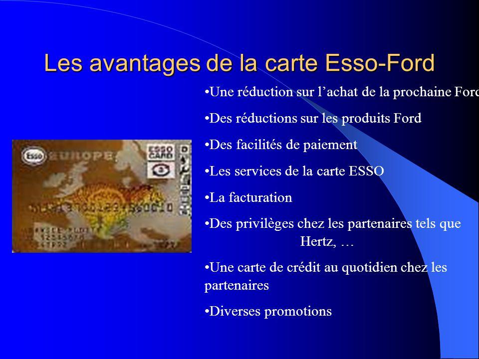 Les avantages de la carte Esso-Ford