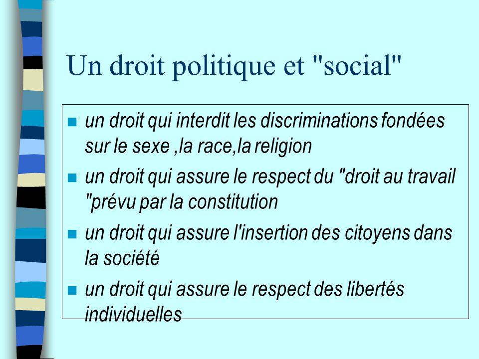 Un droit politique et social