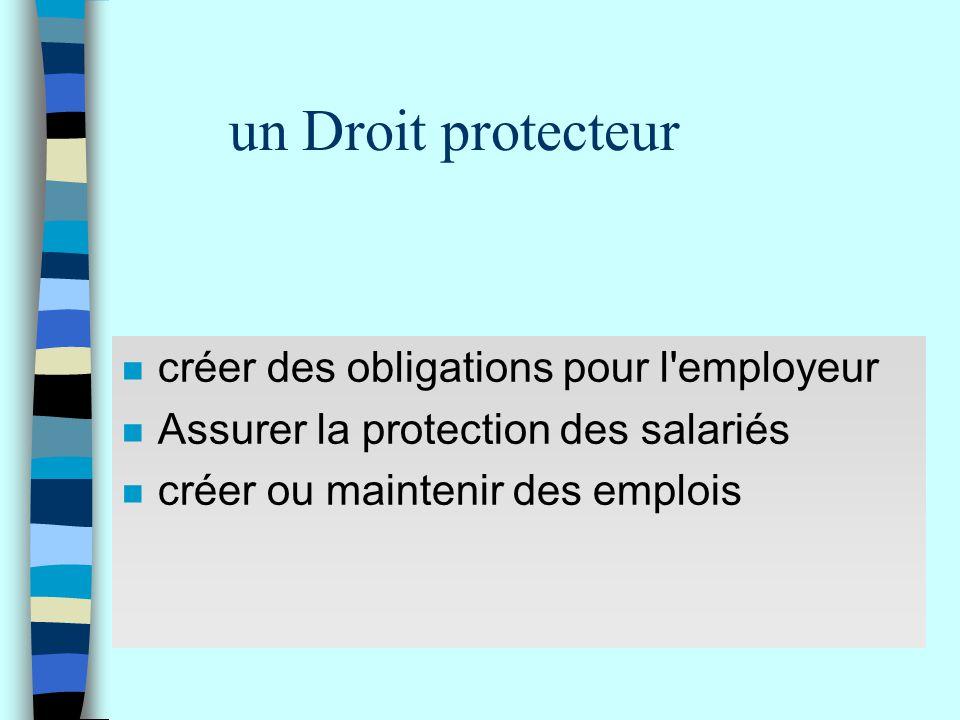 un Droit protecteur créer des obligations pour l employeur
