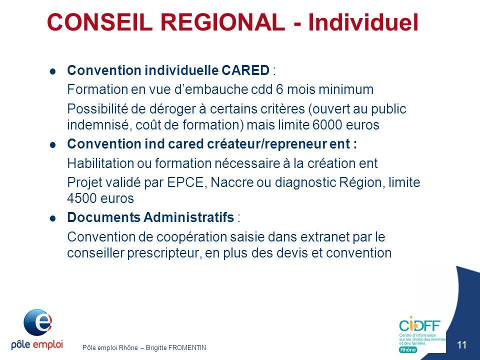 CONSEIL REGIONAL - Individuel