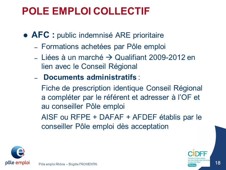 POLE EMPLOI COLLECTIF AFC : public indemnisé ARE prioritaire