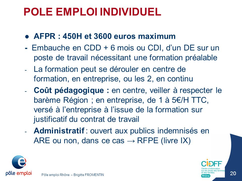 POLE EMPLOI INDIVIDUEL