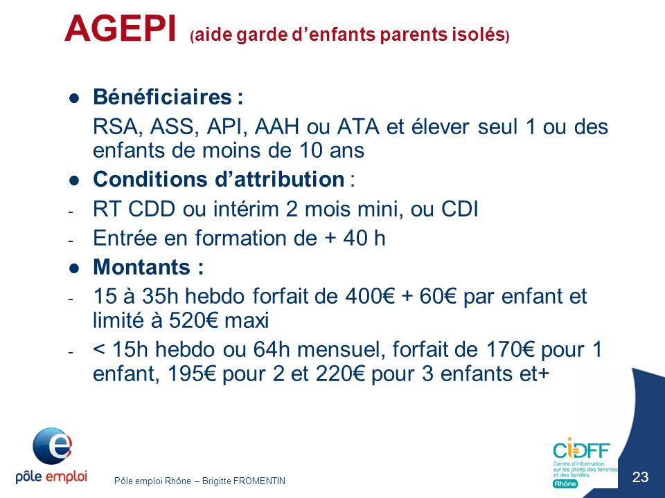AGEPI (aide garde d'enfants parents isolés)