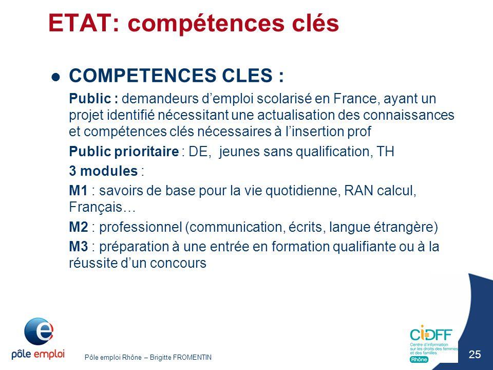 ETAT: compétences clés