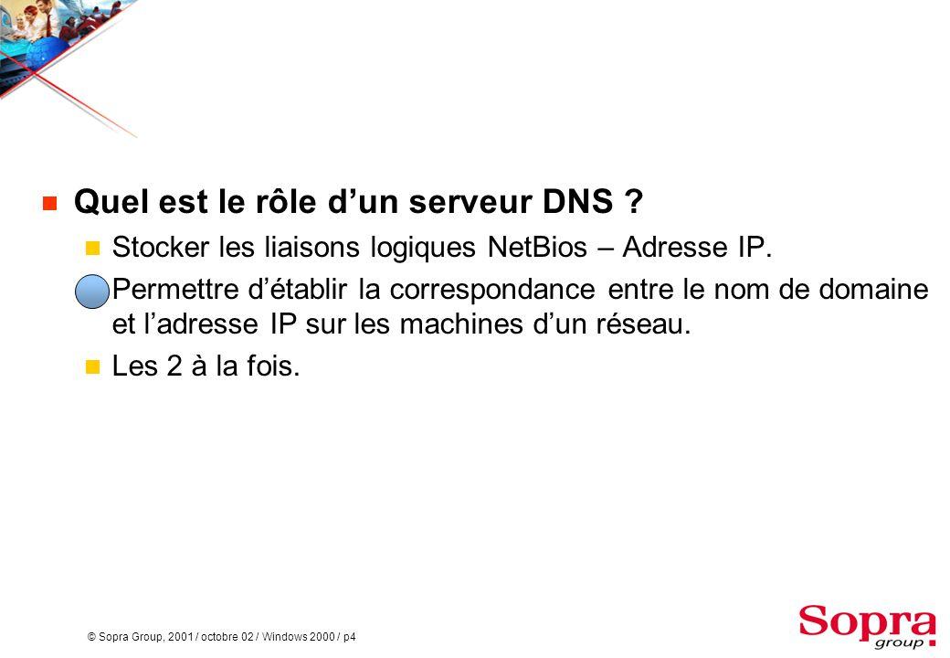 Quel est le rôle d'un serveur DNS