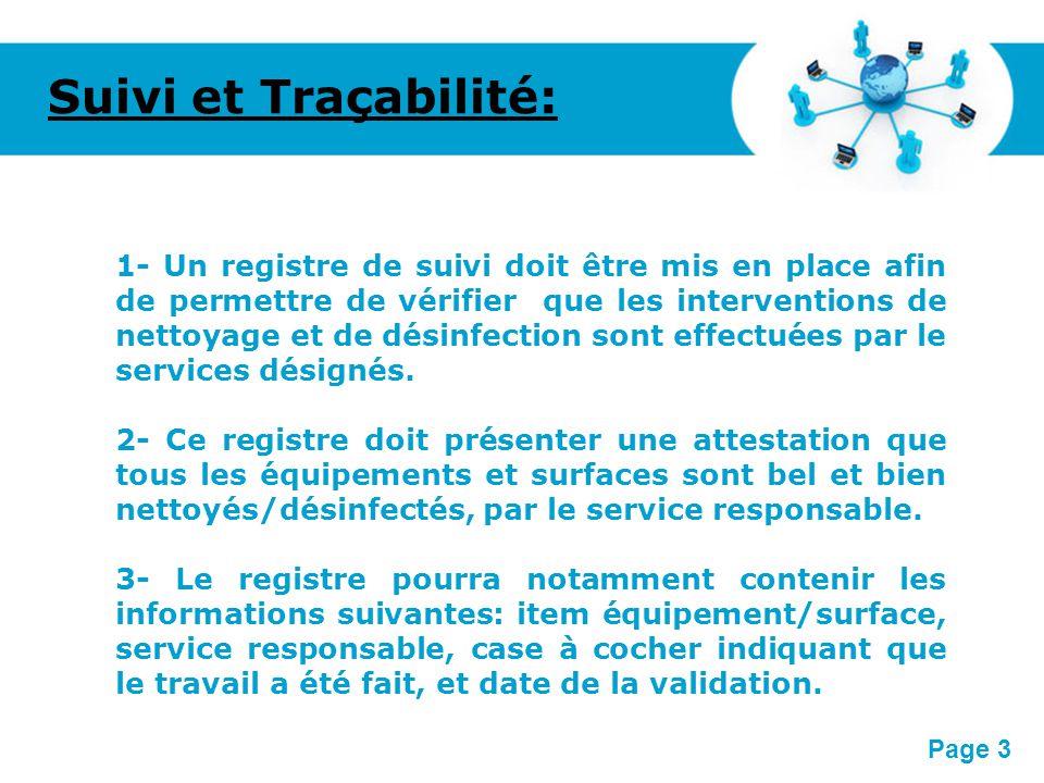 Suivi et Traçabilité: