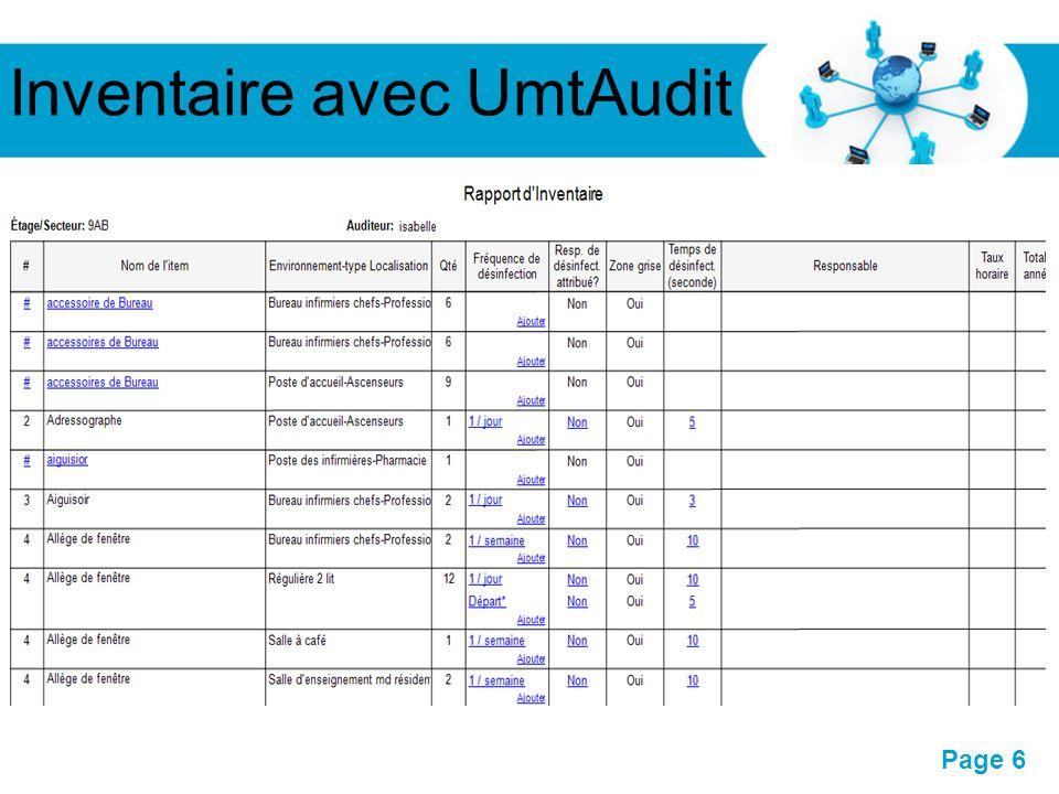 Inventaire avec UmtAudit