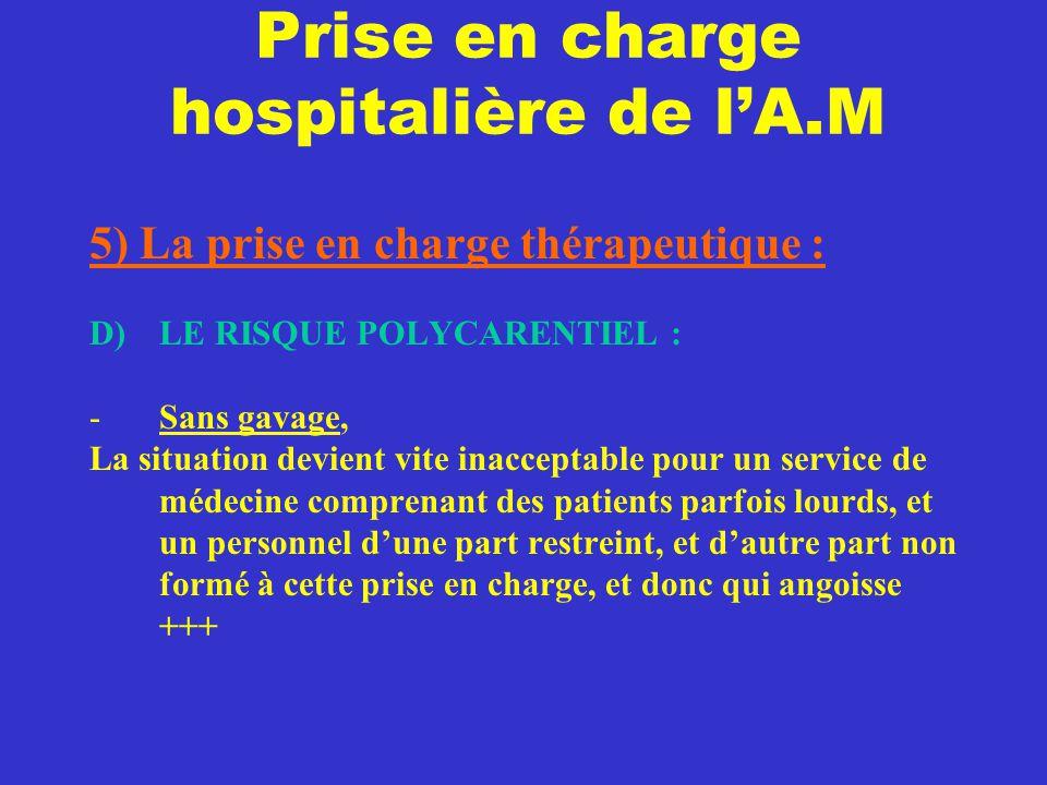 Prise en charge hospitalière de l'A.M