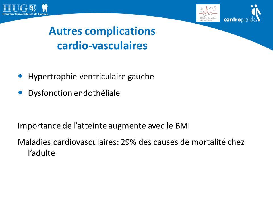 Autres complications cardio-vasculaires