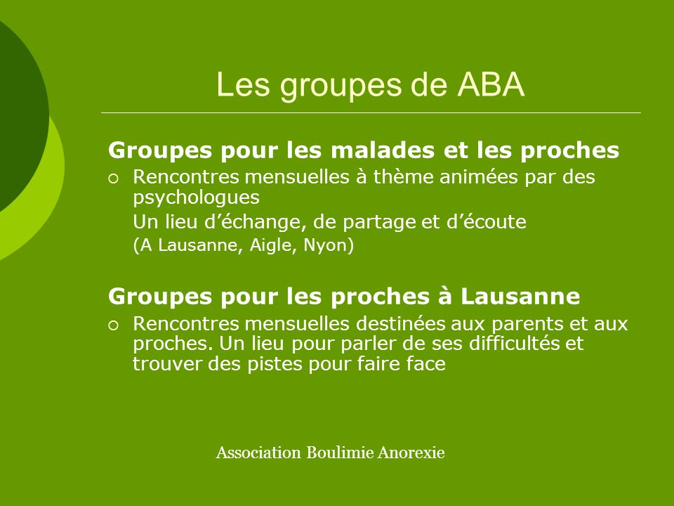 Association Boulimie Anorexie
