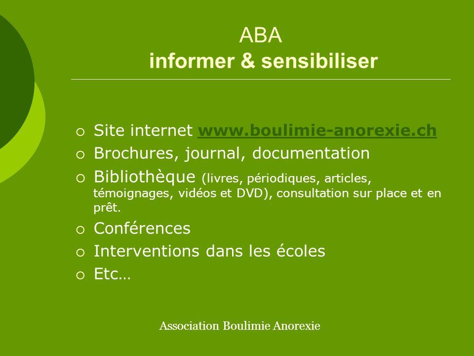 ABA informer & sensibiliser