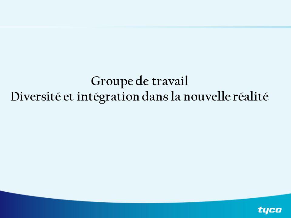 Agenda du jour Modifications du marché Diversité Intégration Pause