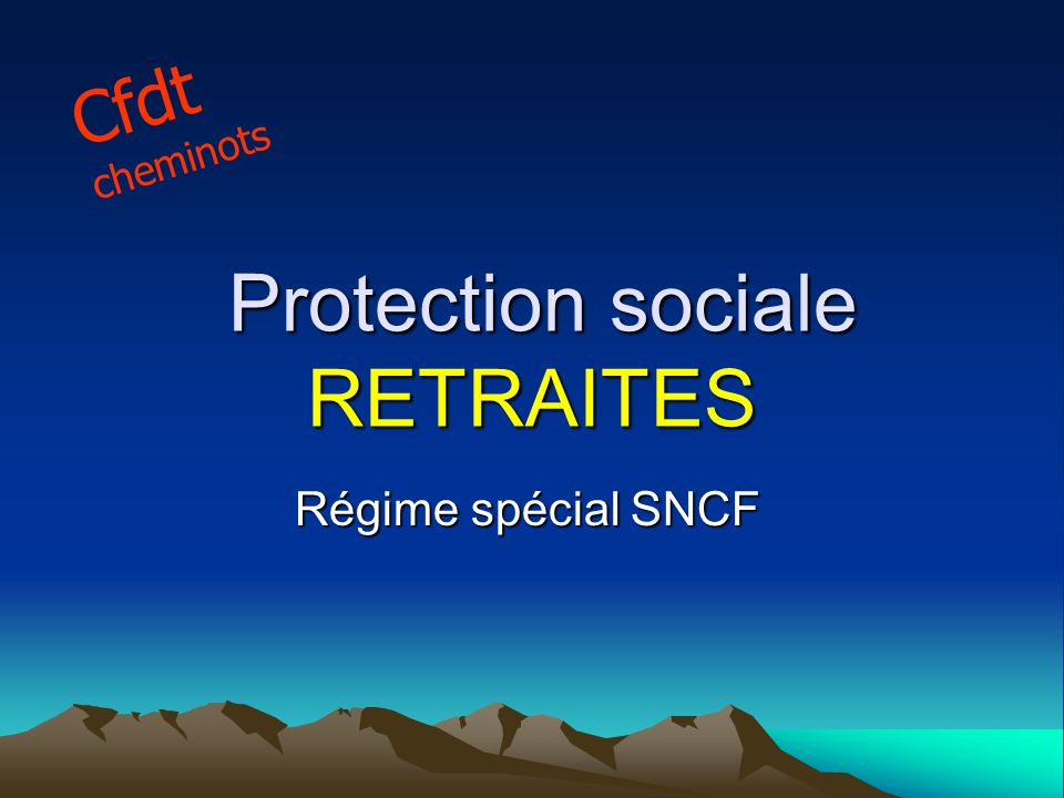 Protection sociale RETRAITES